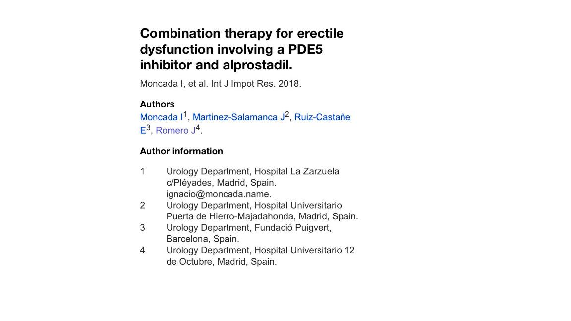 inhibidores de la fosfodiesterasa-5 pde5 en el tratamiento de la disfunción eréctil