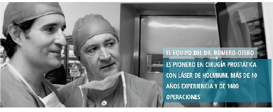 operación de próstata con controlador láser