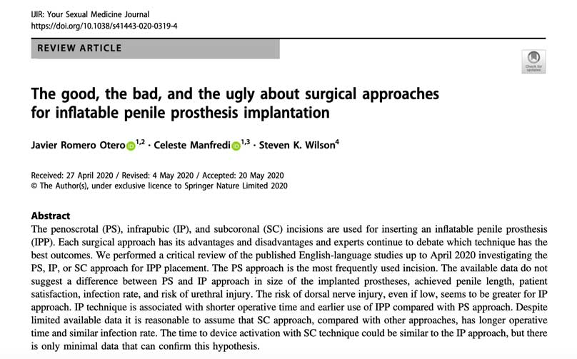 Cirugía prótesis de pene