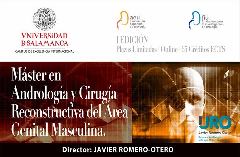Máster en Andrología y Cirugía Reconstructiva dela Universidad de Salamanca