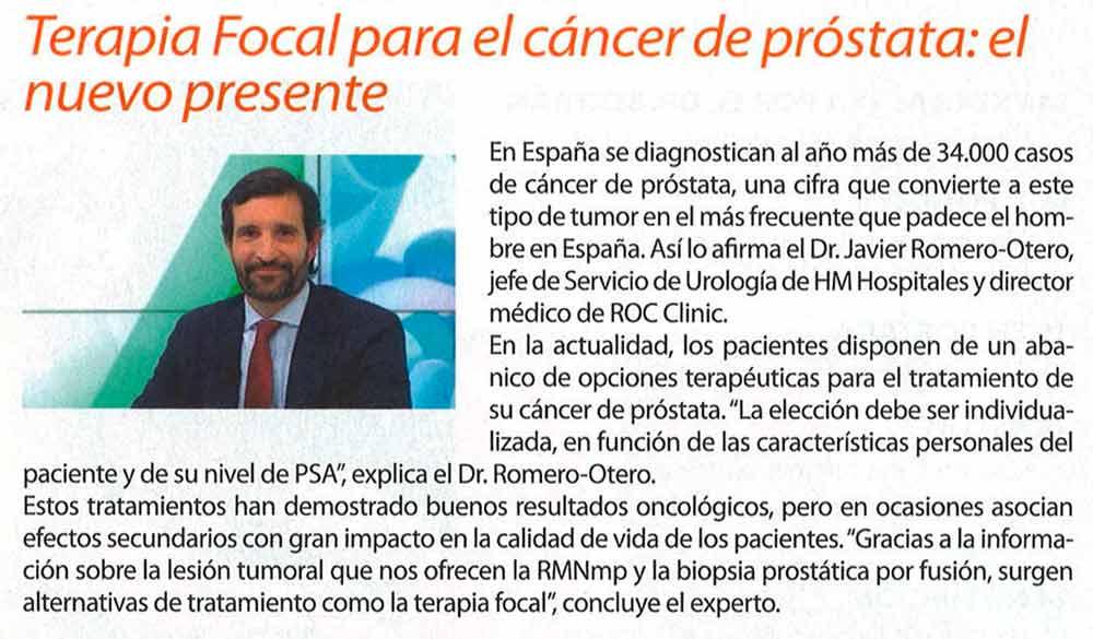 tratamiento con terapia focal en cáncer de próstata