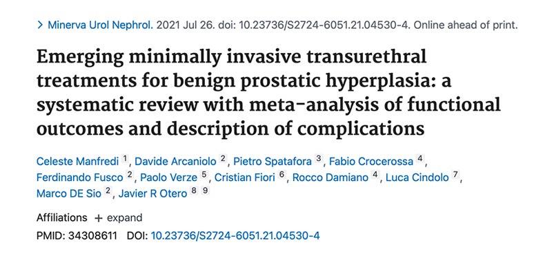 resultados y complicaciones de tratamientos para HBP